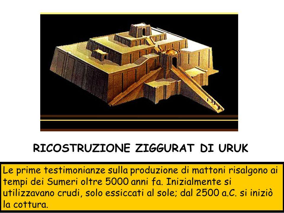 Le prime testimonianze sulla produzione di mattoni risalgono ai tempi dei Sumeri oltre 5000 anni fa. Inizialmente si utilizzavano crudi, solo essiccat