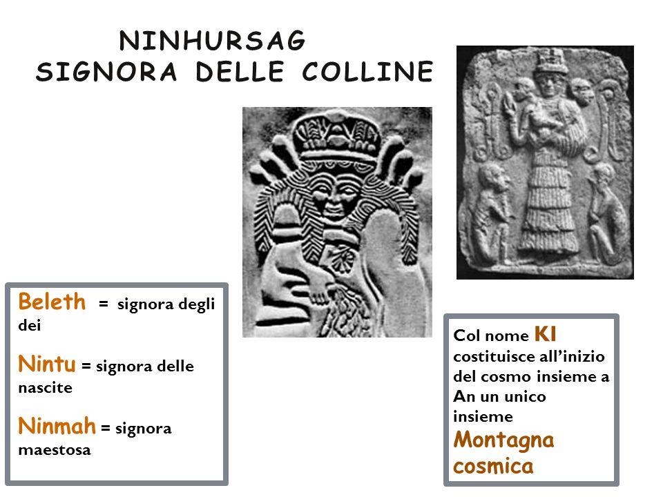Beleth = signora degli dei Nintu = signora delle nascite Ninmah = signora maestosa Col nome KI costituisce all'inizio del cosmo insieme a An un unico