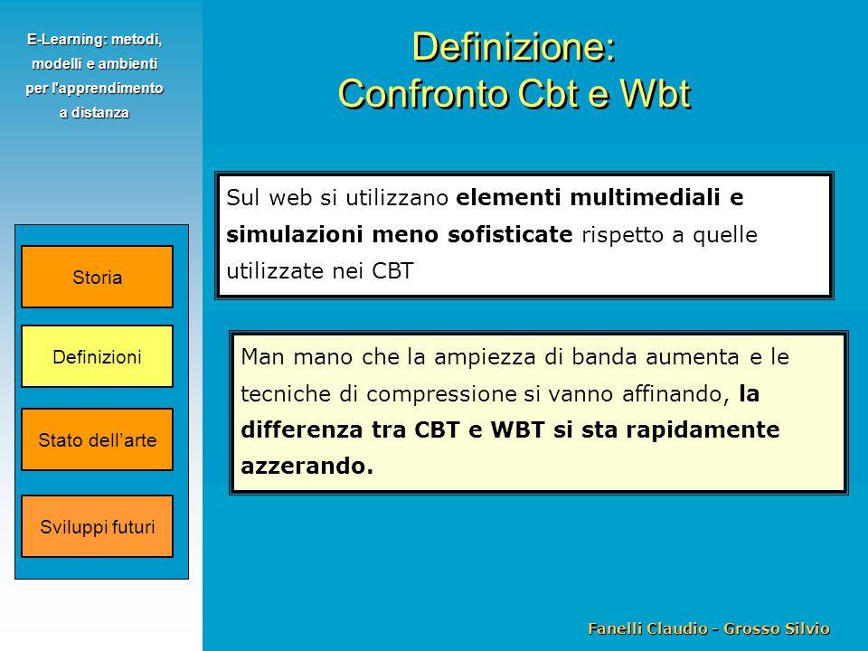 Fanelli Claudio - Grosso Silvio E-Learning: metodi, modelli e ambienti per l'apprendimento a distanza Sul web si utilizzano elementi multimediali e si