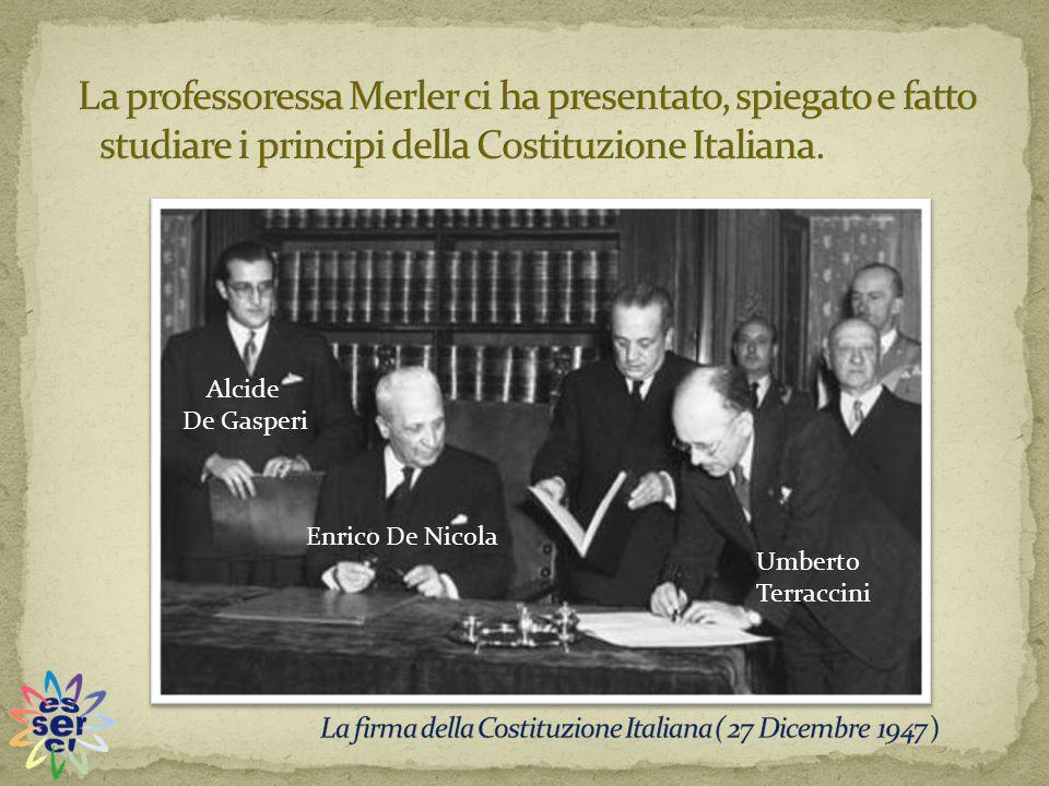 Alcide De Gasperi Enrico De Nicola Umberto Terraccini