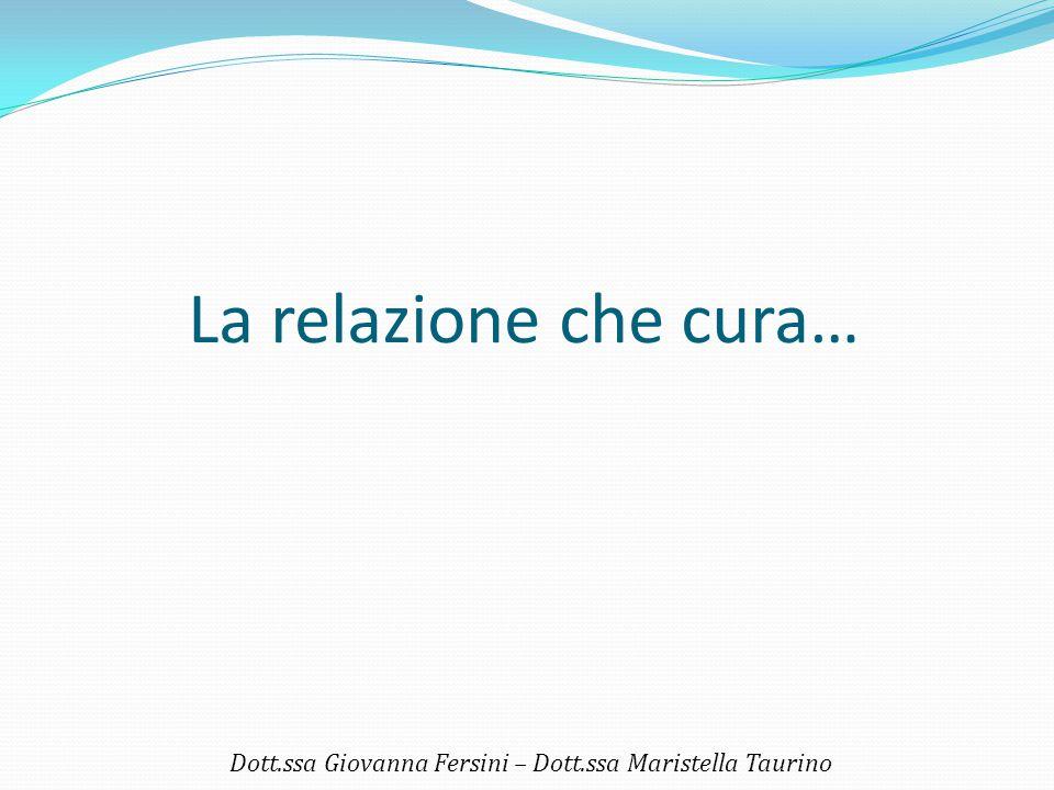 La relazione che cura… Dott.ssa Giovanna Fersini – Dott.ssa Maristella Taurino