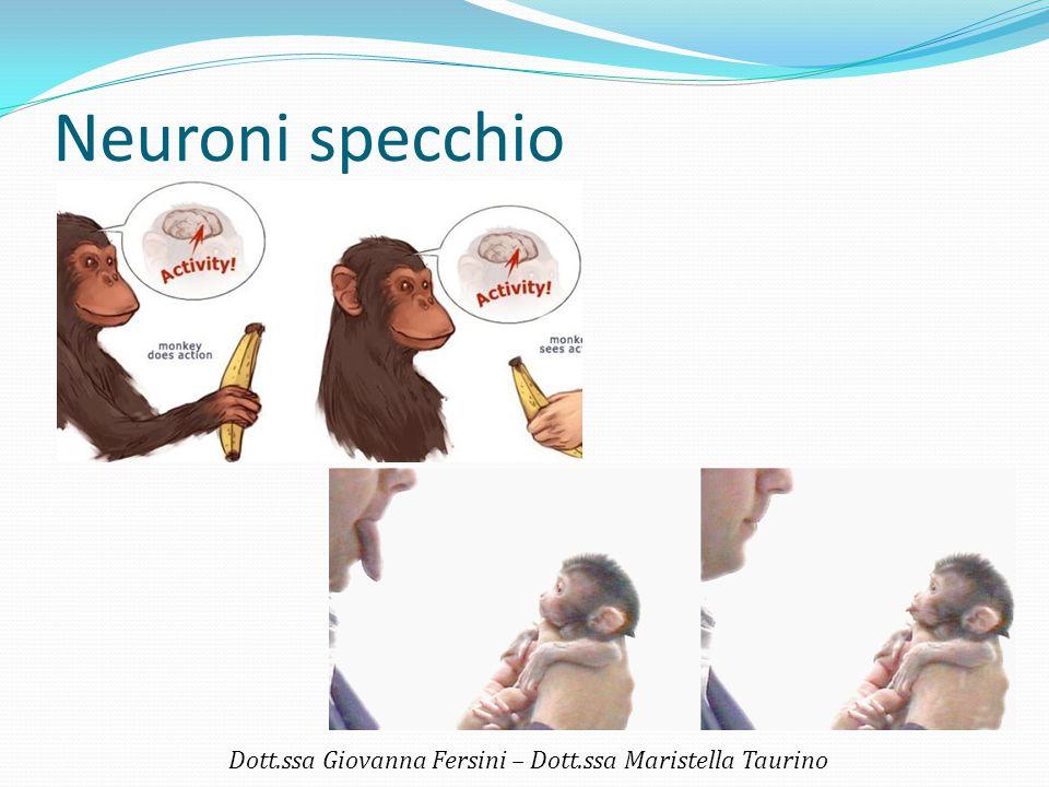 Neuroni specchio Dott.ssa Giovanna Fersini – Dott.ssa Maristella Taurino