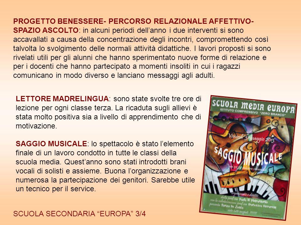 """16 SCUOLA SECONDARIA """"EUROPA"""" 3/4 SAGGIO MUSICALE: lo spettacolo è stato l'elemento finale di un lavoro condotto in tutte le classi della scuola media"""