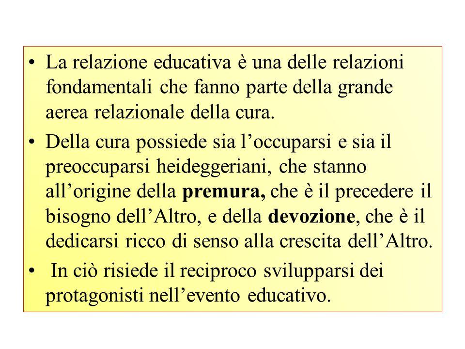 L'edonia della relazione educativa sta nel sentirsi dentro un processo di autorealizzazione condiviso.