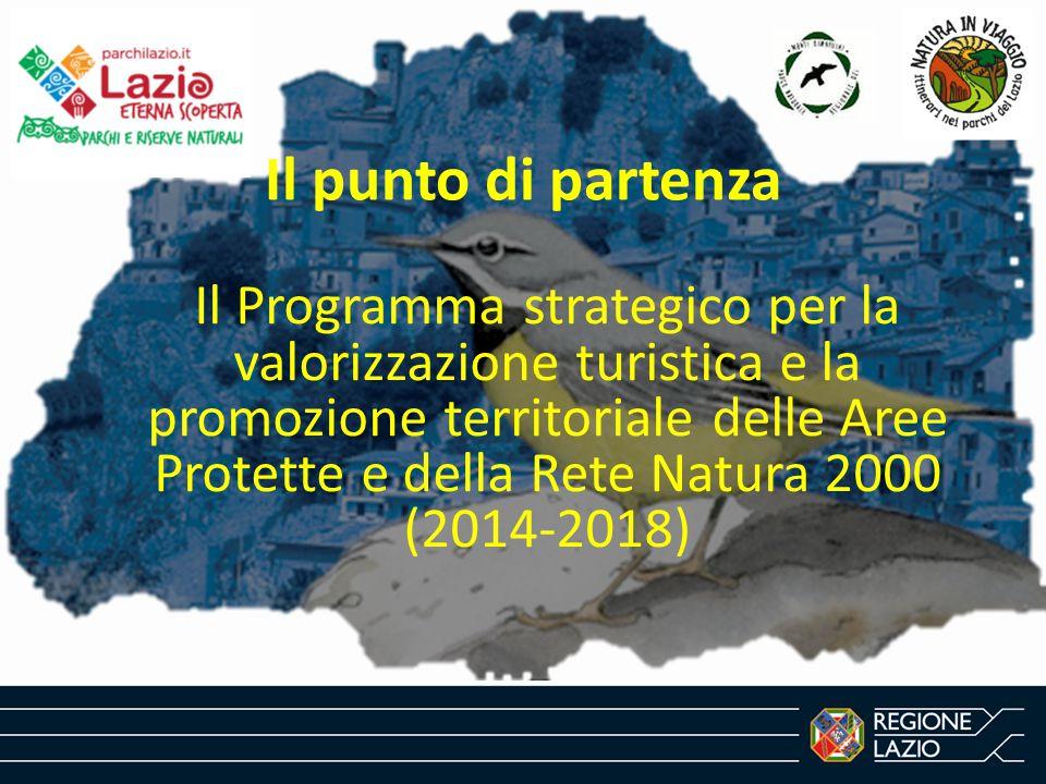 Il punto di partenza Il Programma strategico per la valorizzazione turistica e la promozione territoriale delle Aree Protette e della Rete Natura 2000 (2014-2018)