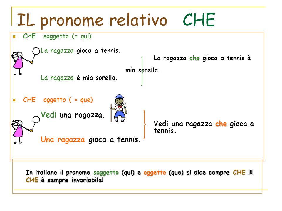 IL pronome relativo CUI Preposizione + CUI (= dont) Parli di una ragazza.