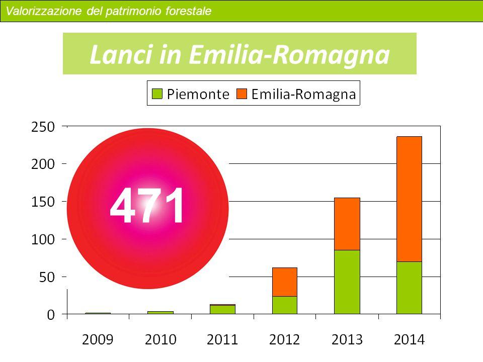 Lanci in Emilia-Romagna 471 Valorizzazione del patrimonio forestale