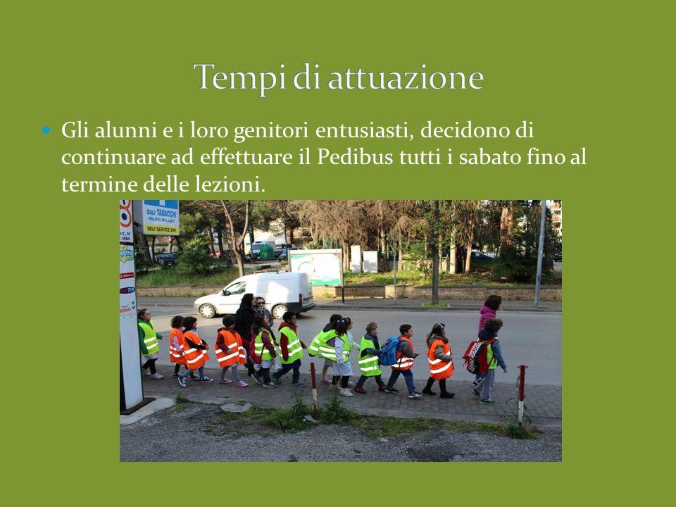 Gli alunni e i loro genitori entusiasti, decidono di continuare ad effettuare il Pedibus tutti i sabato fino al termine delle lezioni.