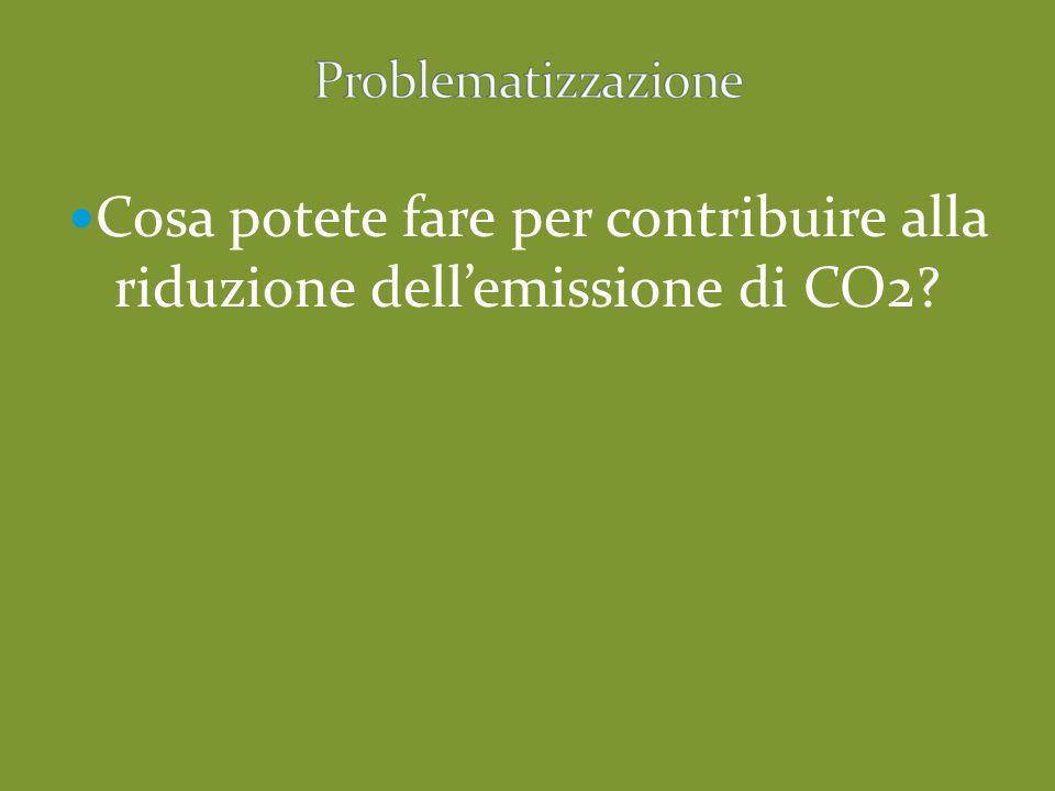 Cosa potete fare per contribuire alla riduzione dell'emissione di CO2