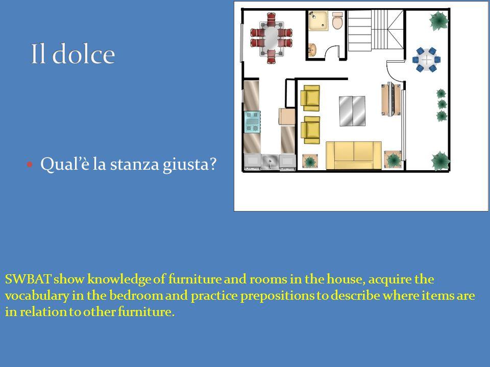 Nome: Data: Scrivete la parola giusta dal vocabolario delle stanze nella casa 1.La stanza dove si cucina ________________________________________ 2.La stanza dove si dorme ________________________________________ 3.La stanza dove si mangia ________________________________________ 4.