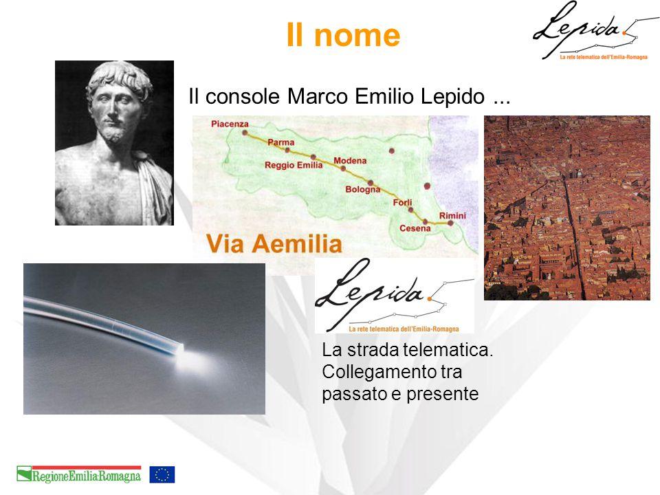 Il nome Il console Marco Emilio Lepido... La strada telematica. Collegamento tra passato e presente