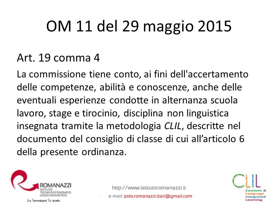 Art. 19 comma 4 La commissione tiene conto, ai fini dell'accertamento delle competenze, abilità e conoscenze, anche delle eventuali esperienze condott