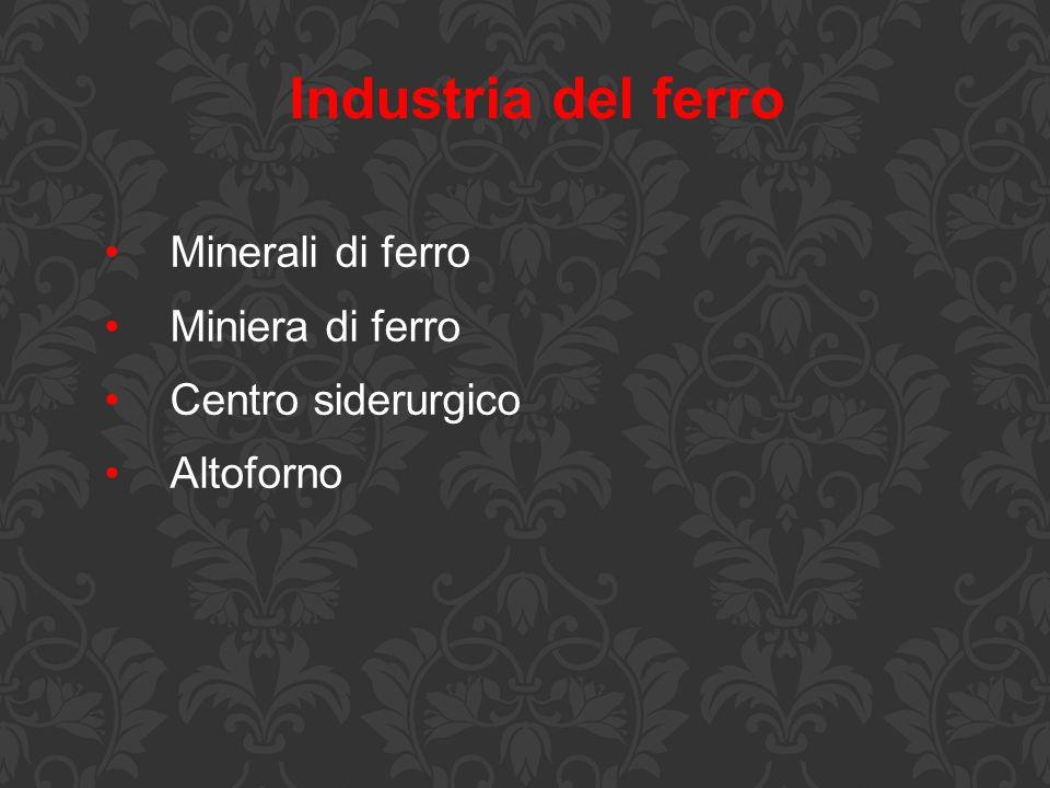 Industria del ferro Minerali di ferro Miniera di ferro Centro siderurgico Altoforno