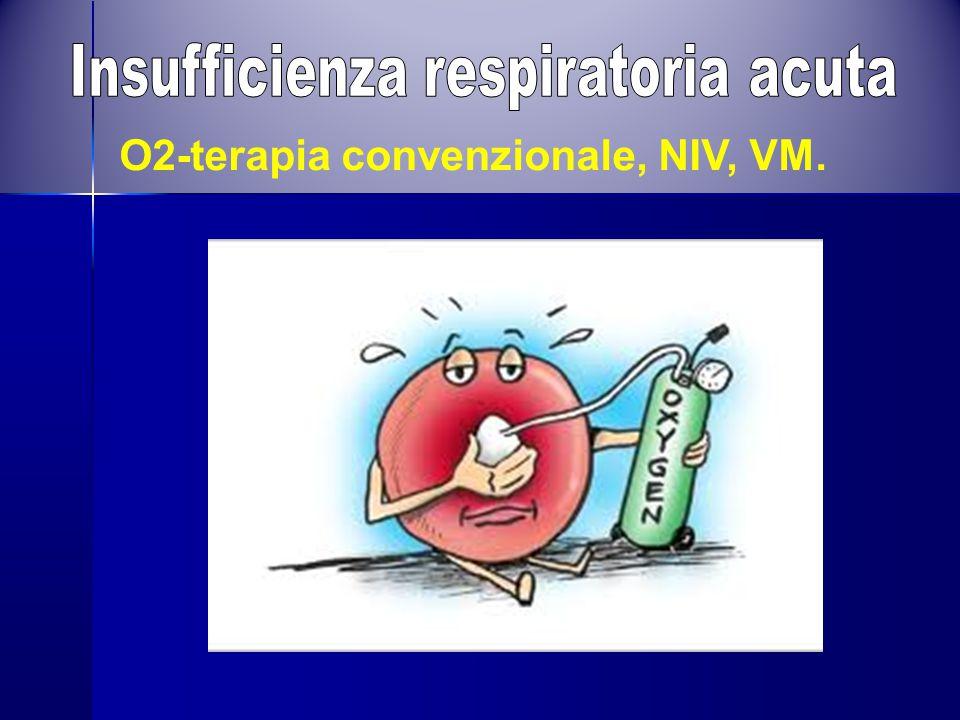 O2-terapia convenzionale, NIV, VM.