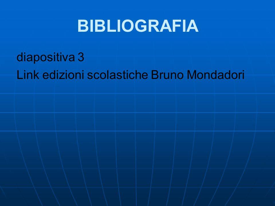 BIBLIOGRAFIA diapositiva 3 Link edizioni scolastiche Bruno Mondadori