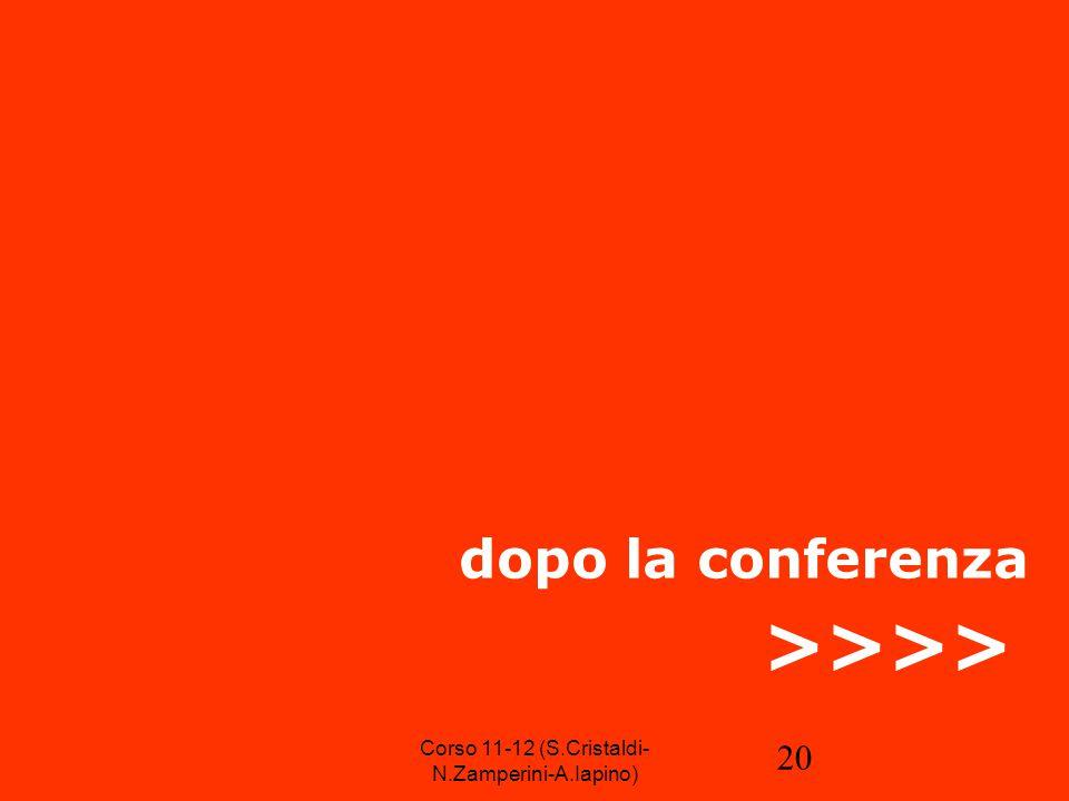 20 dopo la conferenza >>>> Corso 11-12 (S.Cristaldi- N.Zamperini-A.Iapino)