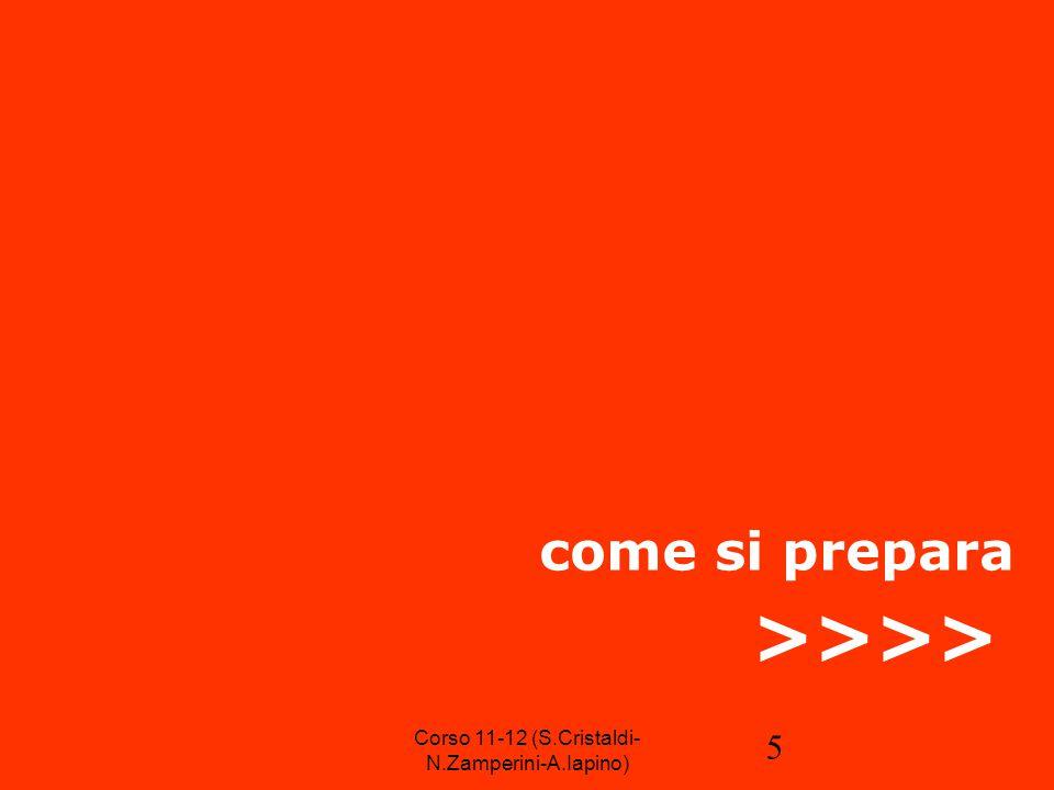 6 istruzioni per l'uso Il contenuto e il pubblico Il luogo La data L'orario L'invito stampa Il panel dei relatori La cartella stampa L'attrezzatura L'allestimento Corso 11-12 (S.Cristaldi- N.Zamperini-A.Iapino)