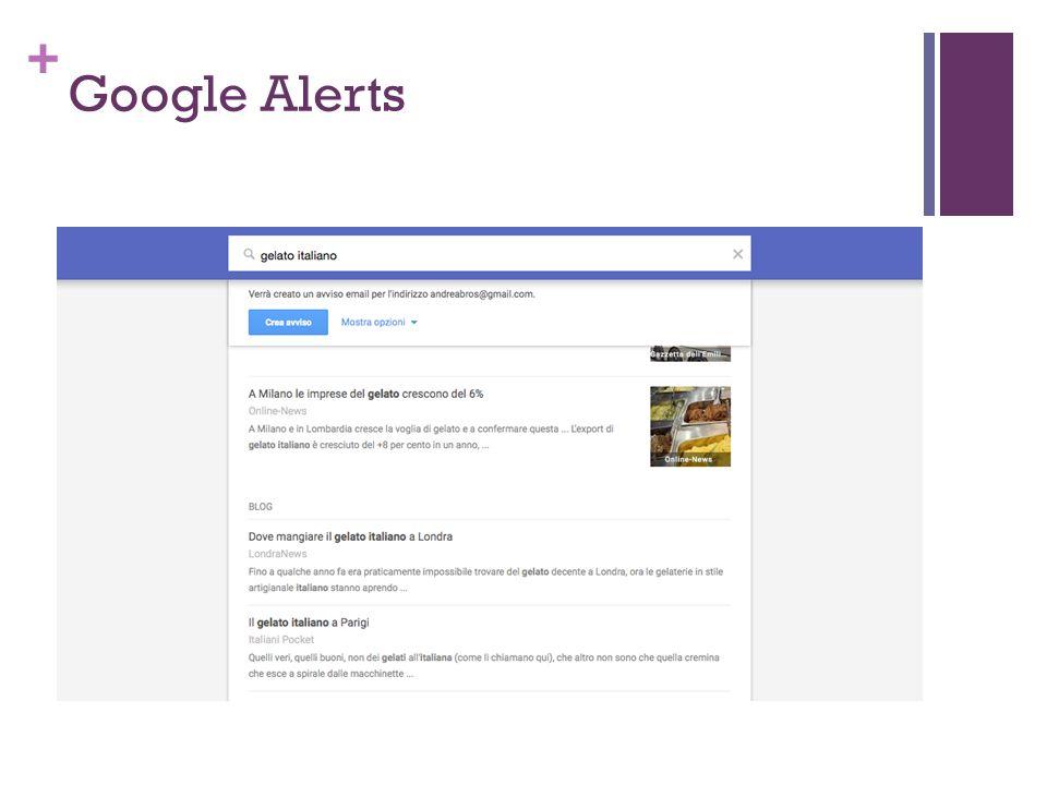+ Google Alerts