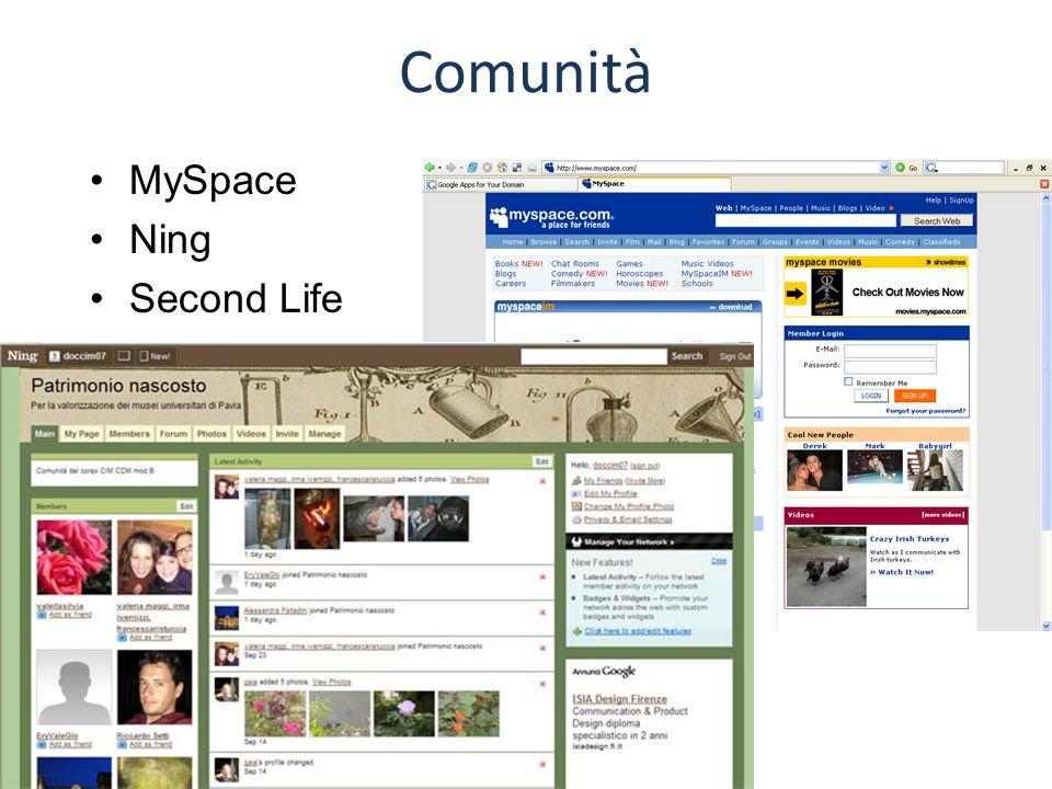 Comunità MySpace Ning Second Life