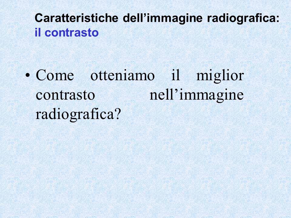 Come otteniamo il miglior contrasto nell'immagine radiografica? Caratteristiche dell'immagine radiografica: il contrasto