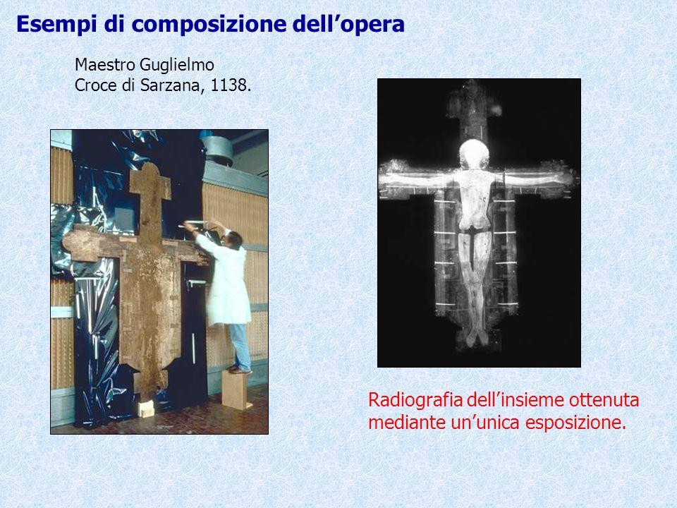 Maestro Guglielmo Croce di Sarzana, 1138. Radiografia dell'insieme ottenuta mediante un'unica esposizione. Esempi di composizione dell'opera