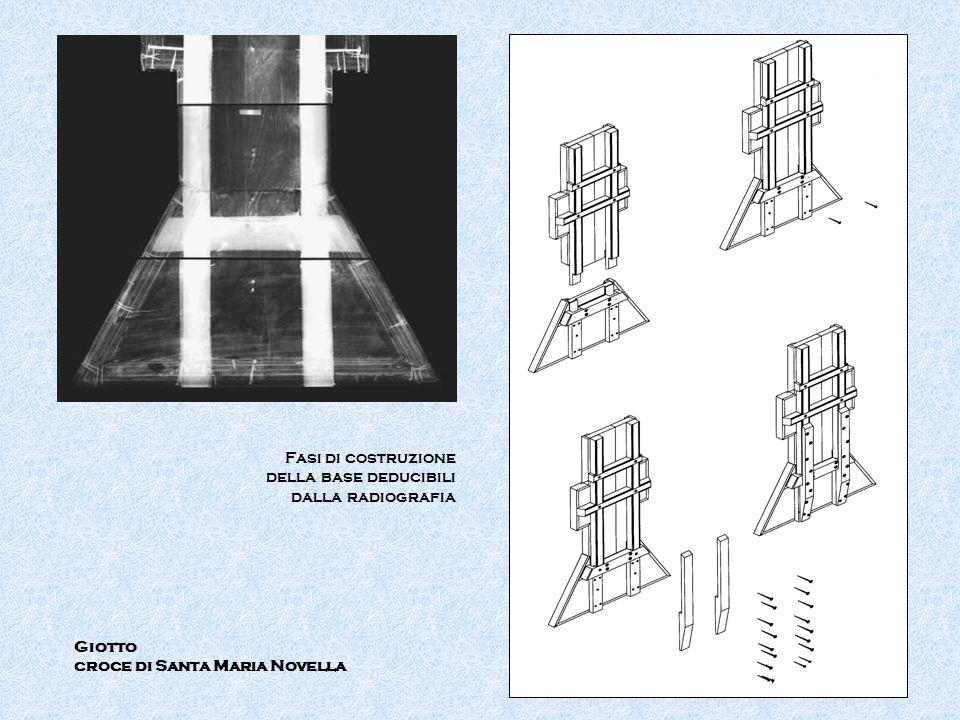 Giotto croce di Santa Maria Novella Fasi di costruzione della base deducibili dalla radiografia