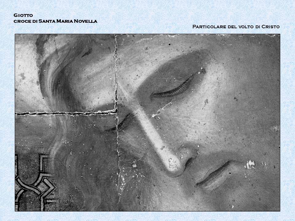 IR Giotto croce di Santa Maria Novella Particolare del volto di Cristo
