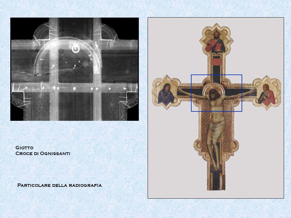 Giotto Croce di Ognissanti Particolare della radiografia