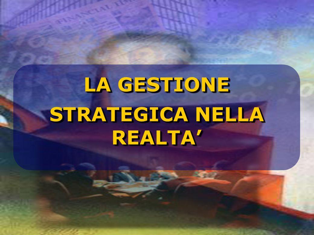 LA GESTIONE STRATEGICA NELLA REALTA' LA GESTIONE STRATEGICA NELLA REALTA'