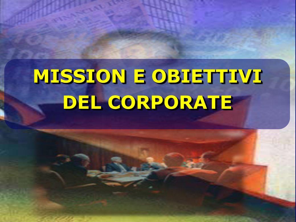 MISSION E OBIETTIVI DEL CORPORATE MISSION E OBIETTIVI DEL CORPORATE
