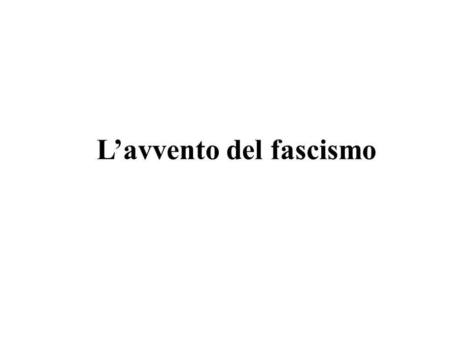 Le origini del fascismo Mussolini leader socialista.