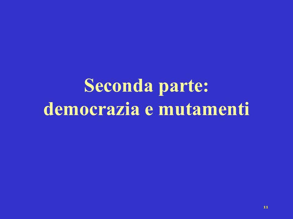 11 Seconda parte: democrazia e mutamenti