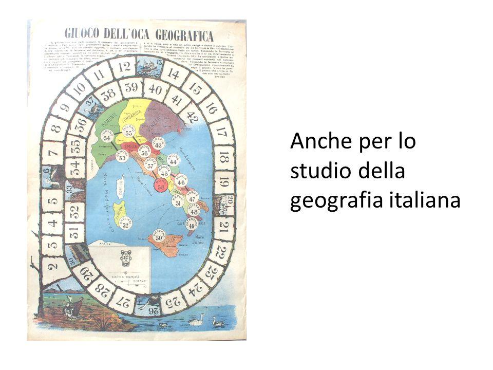 Anche per lo studio della geografia italiana