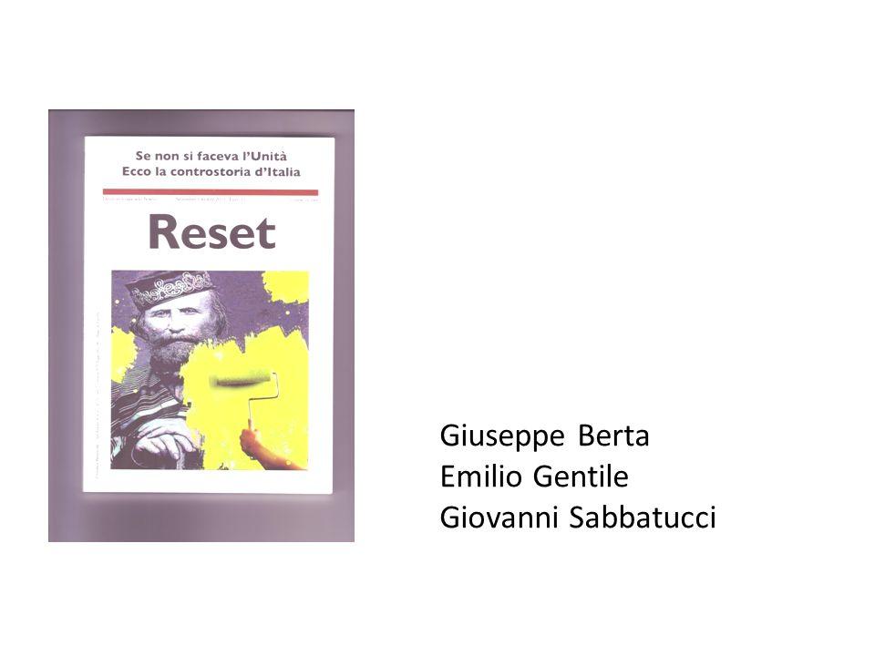 Giuseppe Berta Emilio Gentile Giovanni Sabbatucci