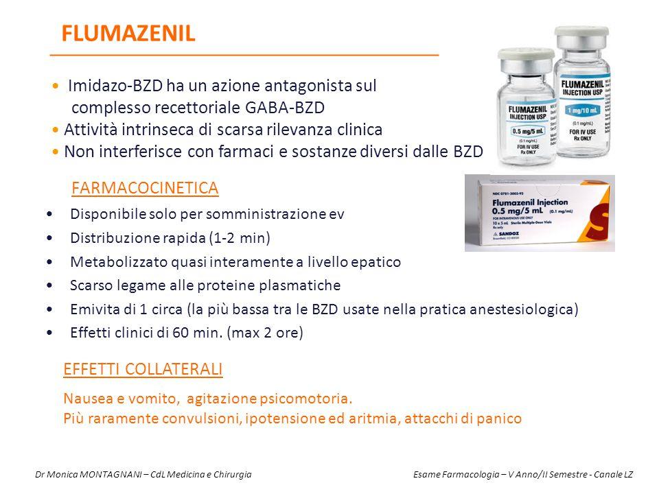 FARMACOCINETICA Disponibile solo per somministrazione ev Distribuzione rapida (1-2 min) Metabolizzato quasi interamente a livello epatico Scarso legam
