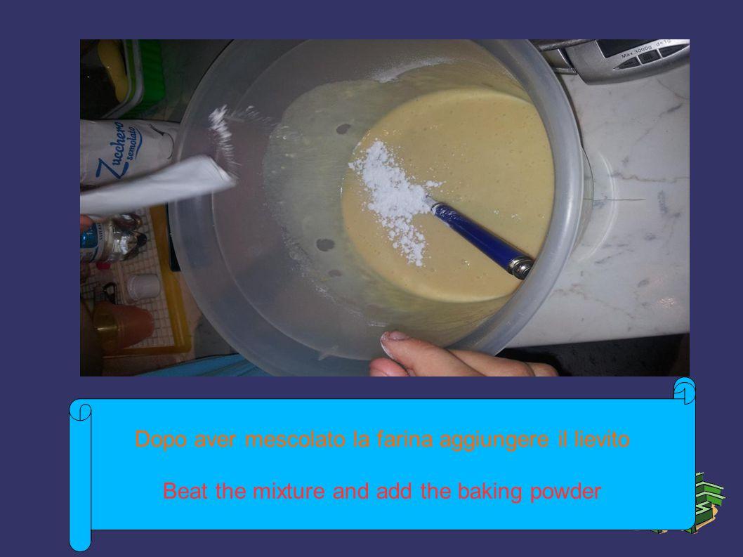 Sviluppo fino al momento attuale ➲ Sviluppo fino alla situazione attuale ➲ Importanti informazioni da esperienze passate ➲ Pronostici originari che successivamente si sono rivelati errati ➲ Pronostici originari che si sono avverati Dopo aver mescolato la farina aggiungere il lievito Beat the mixture and add the baking powder