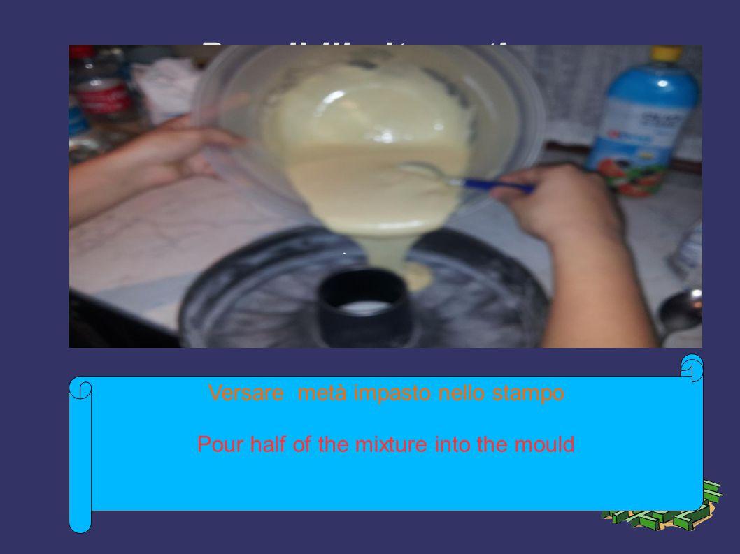 Possibili alternative ➲ Menzionate delle strategie come possibili alternative ➲ Illustrate i vantaggi e gli svantaggi delle rispettive strategie ➲ Consegnate un pronostico dei costi Versare metà impasto nello stampo Pour half of the mixture into the mould