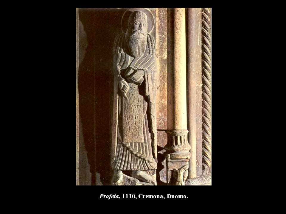 Profeta, 1110, Cremona, Duomo.