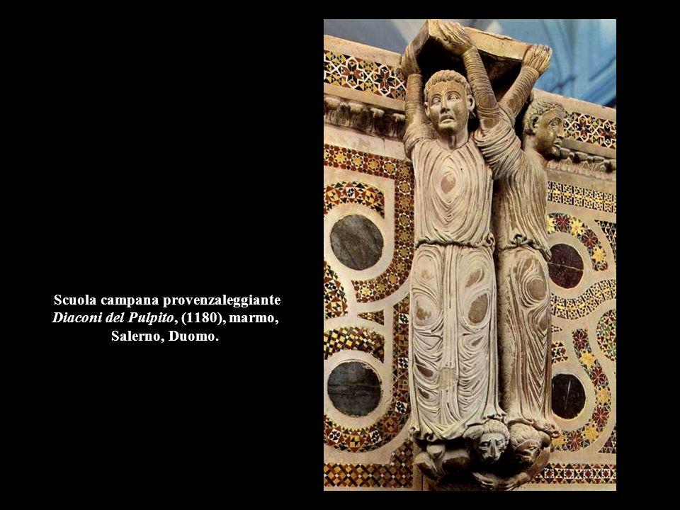 Scuola campana provenzaleggiante Diaconi del Pulpito, (1180), marmo, Salerno, Duomo.