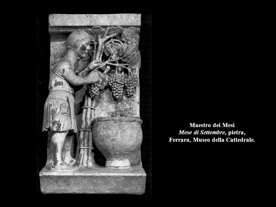 Maestro dei Mesi Mese di Settembre, pietra, Ferrara, Museo della Cattedrale.
