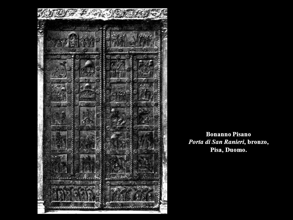 Bonanno Pisano Porta di San Ranieri, bronzo, Pisa, Duomo.