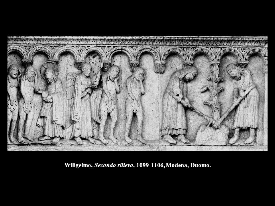 Wiligelmo, Terzo rilievo, 1099-1106, Modena, Duomo.