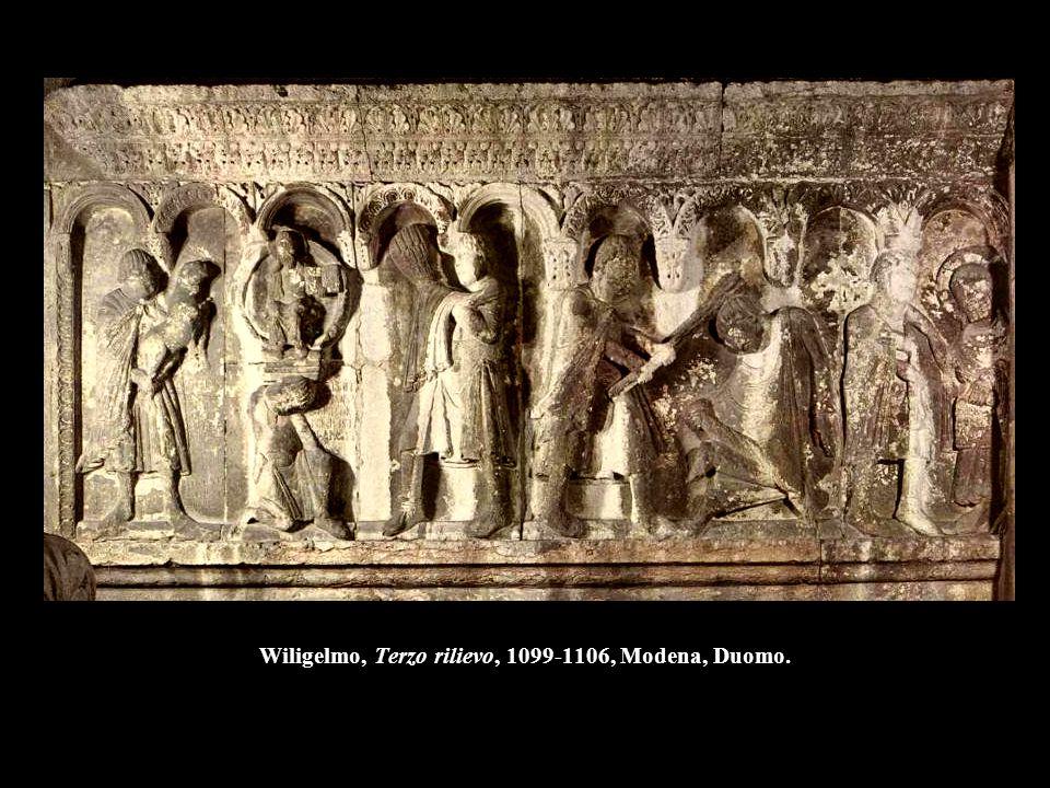 Wiligelmo, Quarto rilievo, 1099-1106, Modena, Duomo.