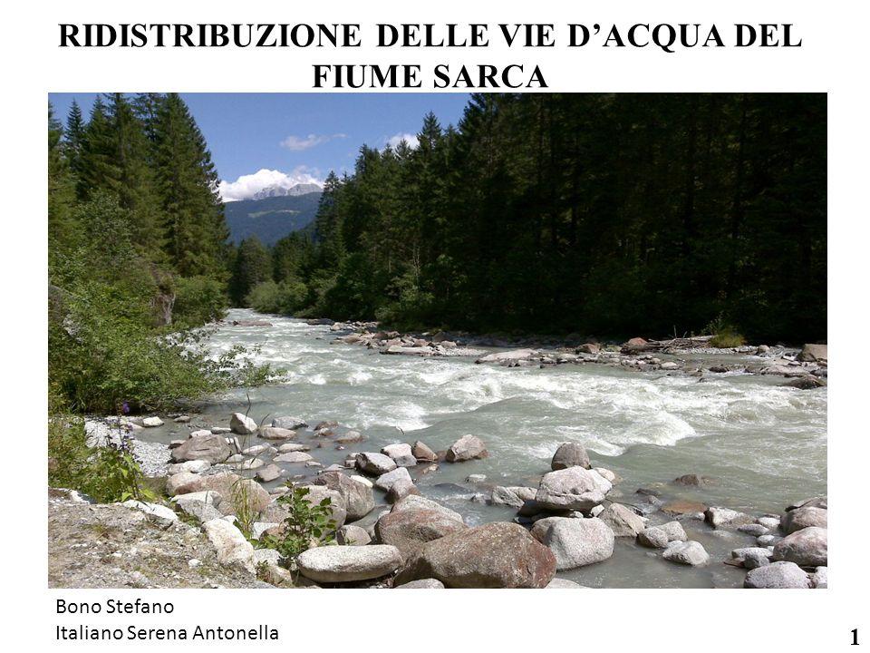 RIDISTRIBUZIONE DELLE VIE D'ACQUA DEL FIUME SARCA 1 Bono Stefano Italiano Serena Antonella