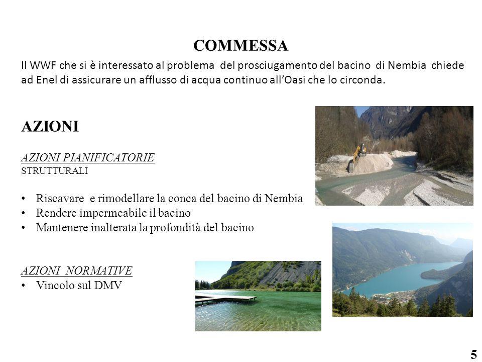 5 Il WWF che si è interessato al problema del prosciugamento del bacino di Nembia chiede ad Enel di assicurare un afflusso di acqua continuo all'Oasi che lo circonda.