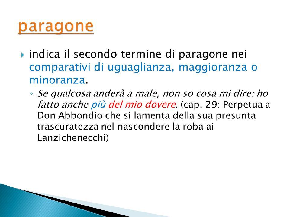  indica il nome proprio, di una località o una persona, del nome comune che lo precede ◦ Quel ramo del lago di Como... (cap. 1)
