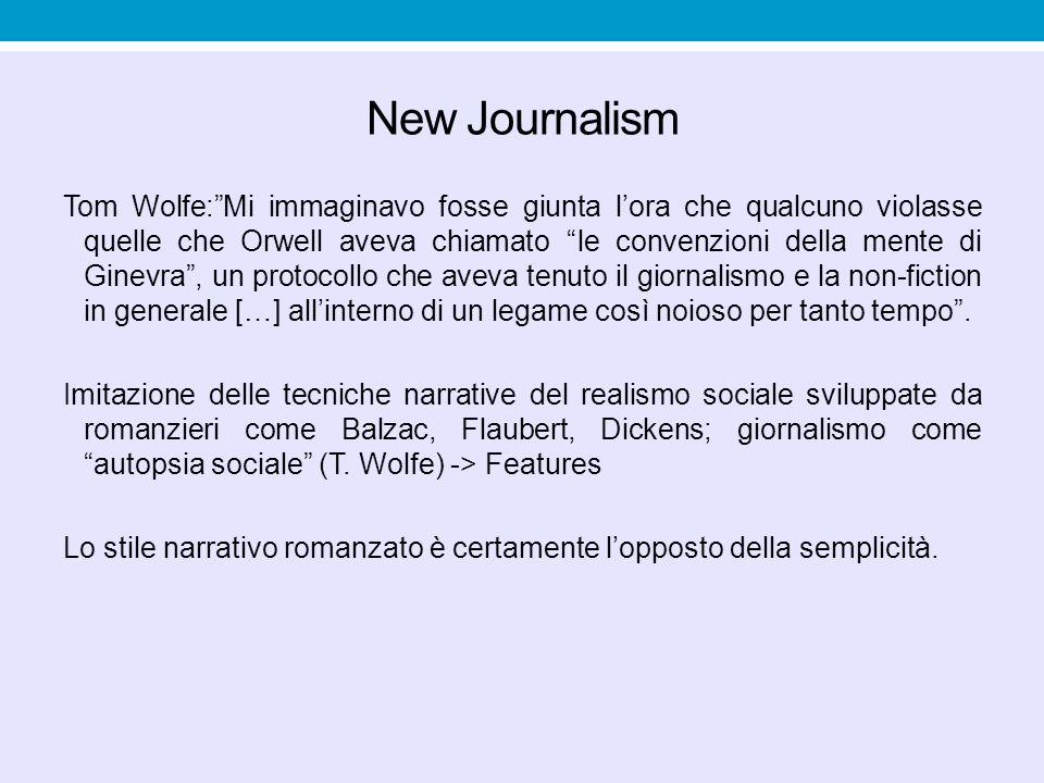 """New Journalism Tom Wolfe:""""Mi immaginavo fosse giunta l'ora che qualcuno violasse quelle che Orwell aveva chiamato """"le convenzioni della mente di Ginev"""