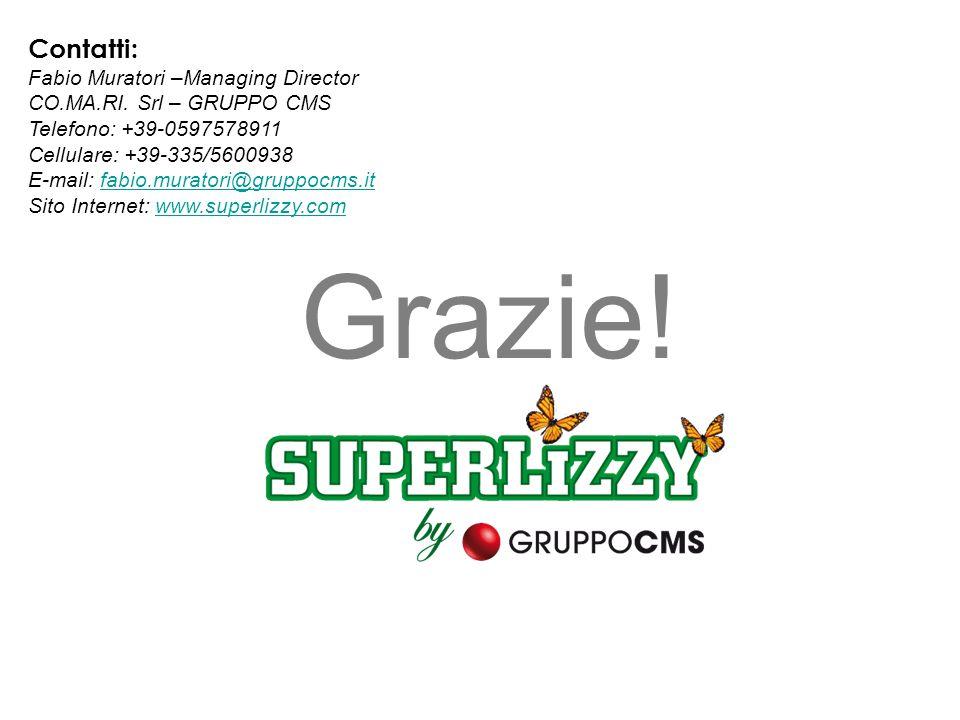 Contatti: Fabio Muratori –Managing Director CO.MA.RI. Srl – GRUPPO CMS Telefono: +39-0597578911 Cellulare: +39-335/5600938 E-mail: fabio.muratori@grup