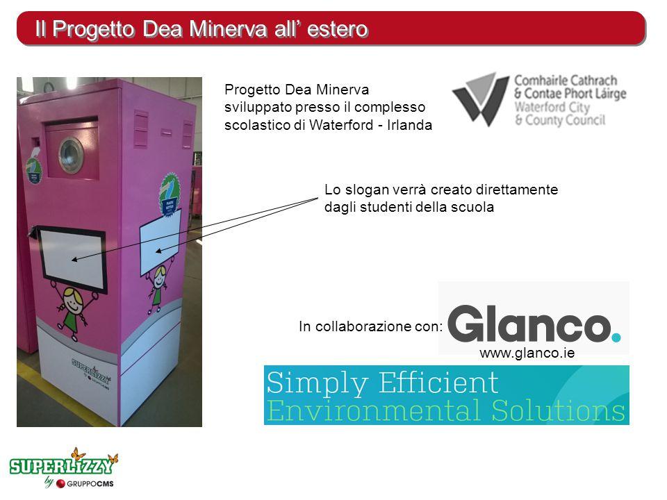 Il Progetto Dea Minerva all' estero Progetto Dea Minerva sviluppato presso il complesso scolastico di Waterford - Irlanda Lo slogan verrà creato diret