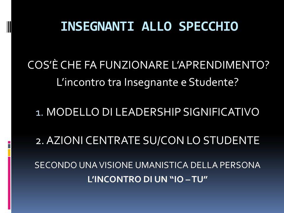 INSEGNANTI ALLO SPECCHIO 1.